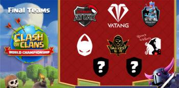 CoC World Championship équipes invitées