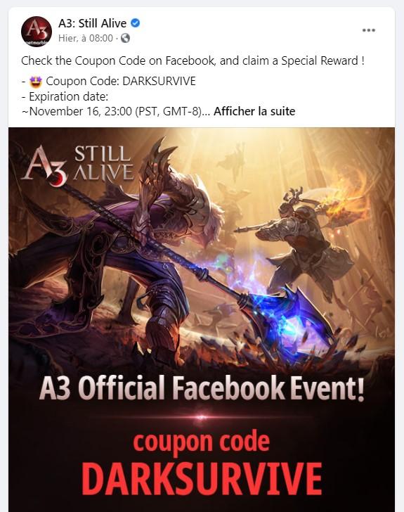 exemple de coupon A3: Still Alive