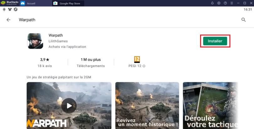 Installer Warpath sur PC