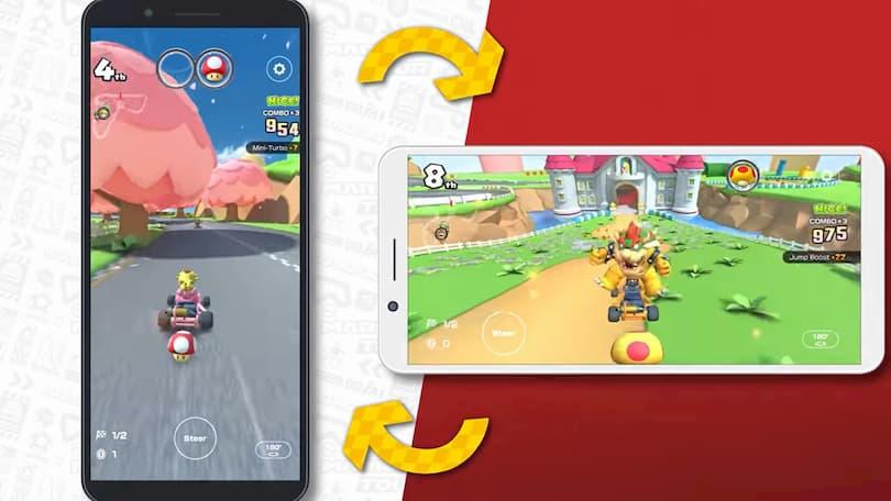 Jouer à Mario Kart Tour en mode paysage