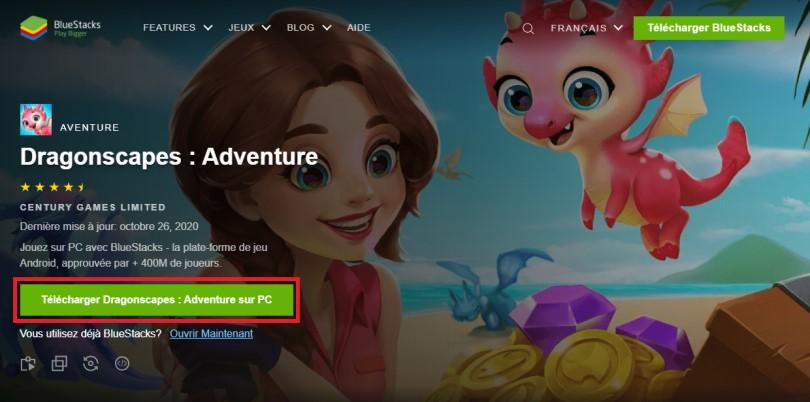 Télécharger un émulateur Android pour jouer à Dragonscapes Aventure sur PC