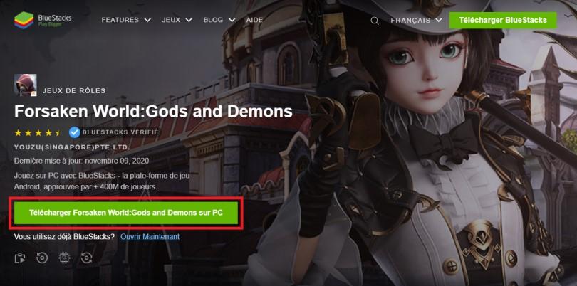 Télécharger un émulateur Android pour jouer à Forsaken World sur PC