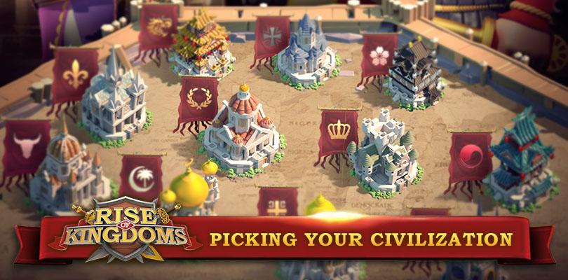 Choosing your civilization Rise of Kingdoms
