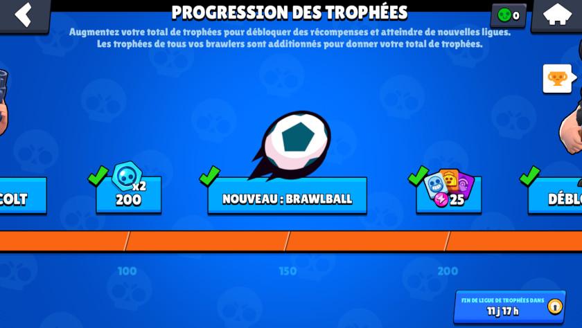 Événements Brawl Stars - Progression des trophées