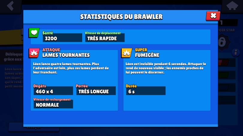 Guide Brawl Stars Leon - attaques