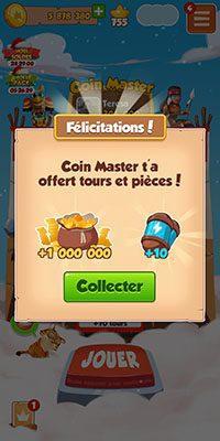 Récompense Coin Master bonus