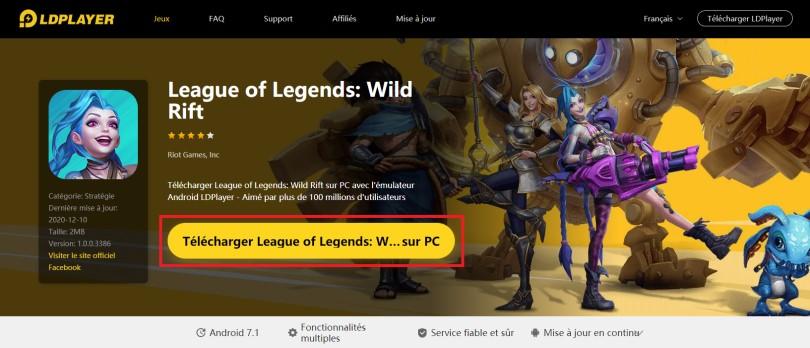 Installer un émulateur Android pour jouer à Lol Wild Rift sur PC