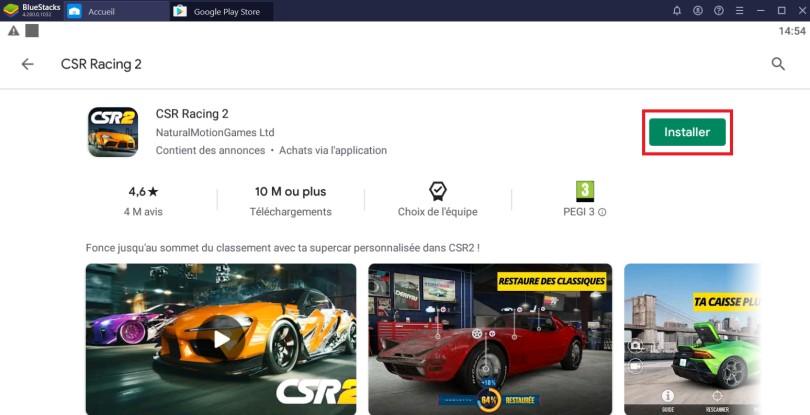 Installer CSR Racing 2 sur PC