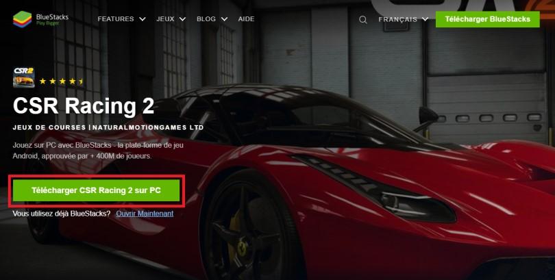 Télécharger un émulateur Android pour jouer à CSR Racing 2 sur PC