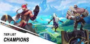Tier list champions Wild Rift