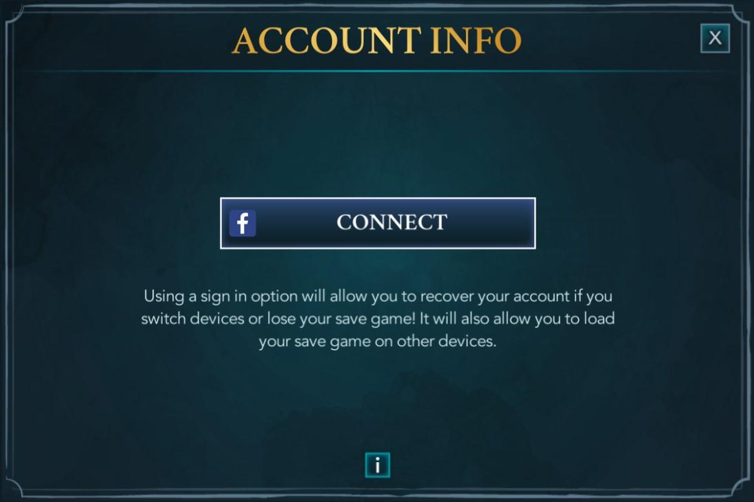 Account Info Harry Potter
