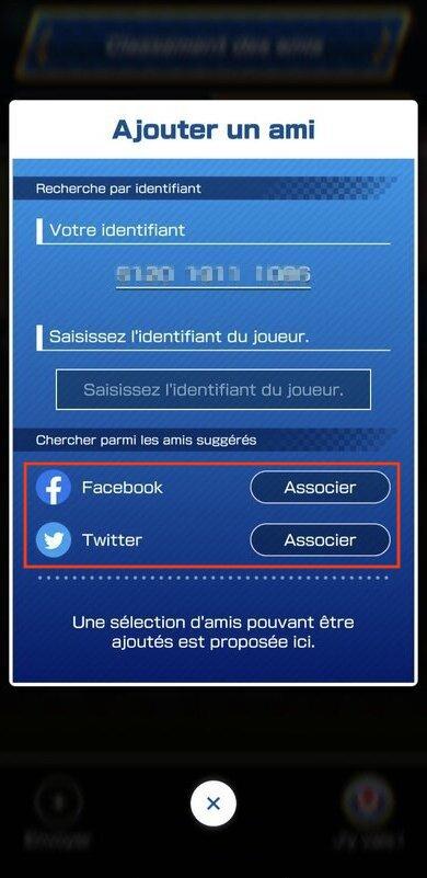 Associer son compte Mario Kart Tour à Facebook ou Twitter