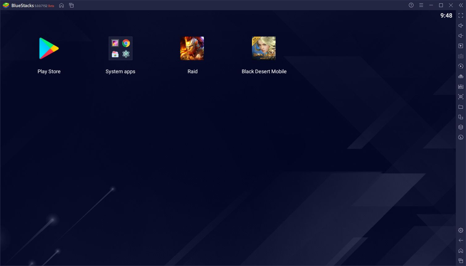 BlueStacks 5 interface utilisateur