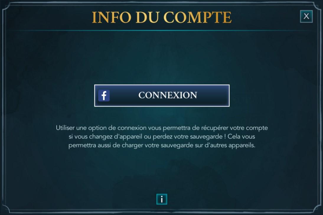 Info du compte Harry Potter