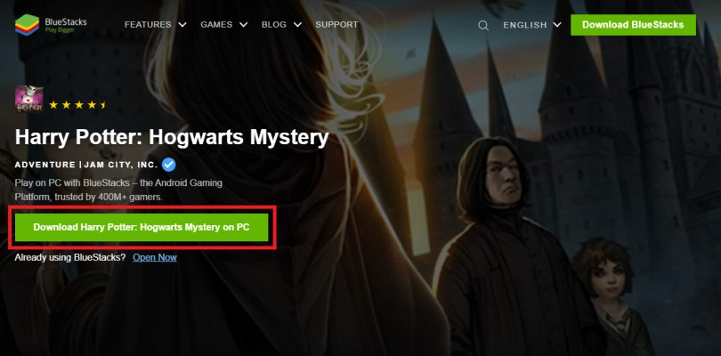 Download an Android emulator to play at Harry Potter: Hogwarts Mystery on PC