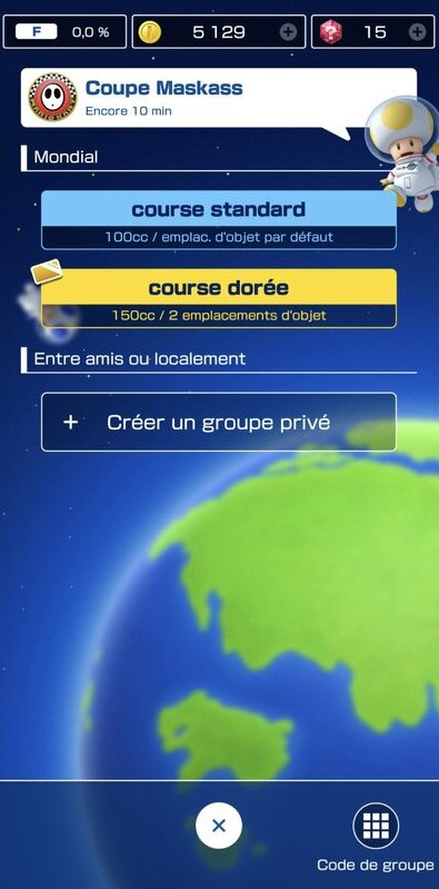 Groupe privé Mario Kart Tour