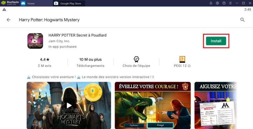 Install Harry Potter Hogwarts Mystery