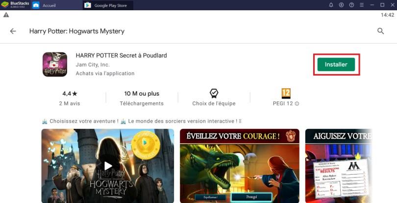 Installer Harry Potter Hogwarts Mystery