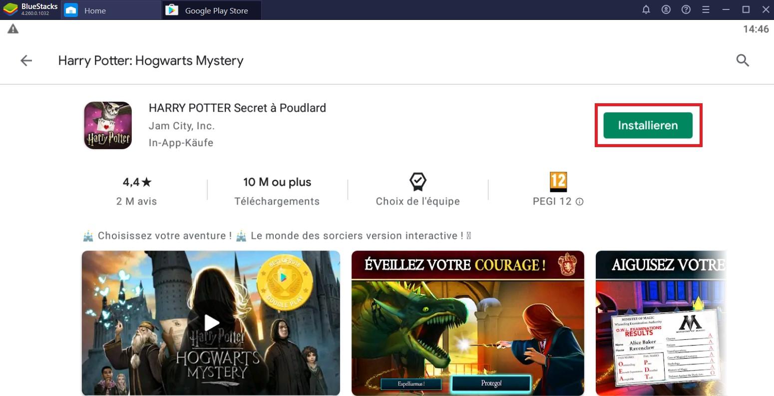 Installieren Harry Potter Geheimnis von Hogwarts