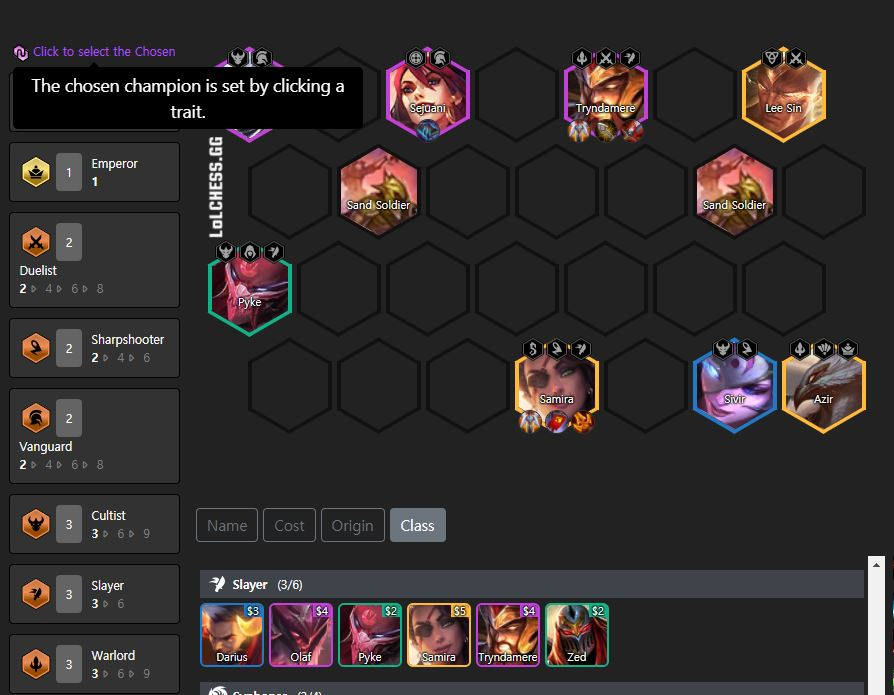TFT Compo Tryndamere Meurtrier
