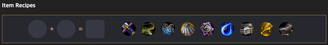Outil lolchess item recipe TFT