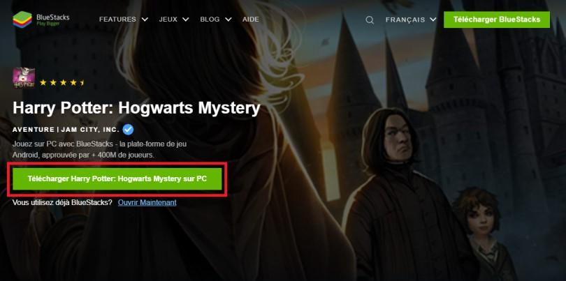 Télécharger un émulateur Android pour jouer à Harry Potter: Hogwarts Mystery sur PC