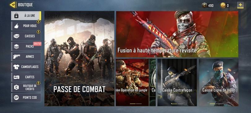 Astuces Call of Duty mobile : acheter le Passe de Combat