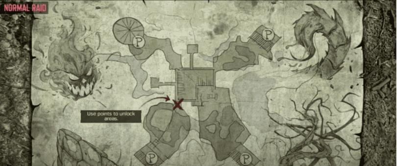 Carte Call of Duty mobile Zombie sur un Raid normal