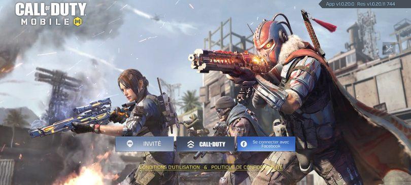 Se connecter sur Call of Duty Mobile