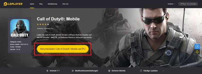 Android-Emulator herunterladen, um COD Mobile zu spielen