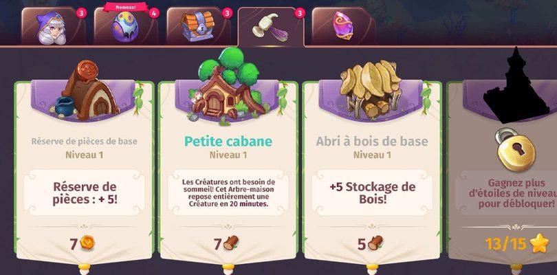 Cabanes et réserves de pièces Merge Magic!