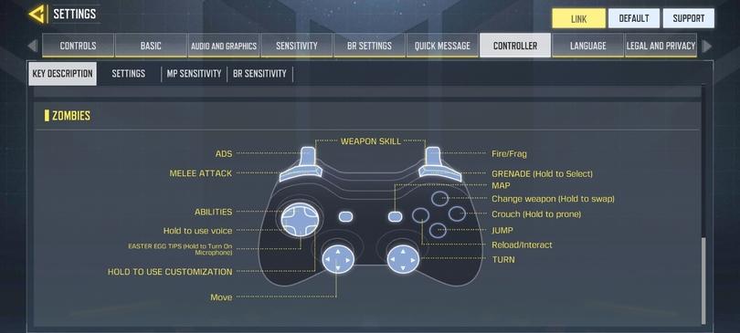 Spielen mit dem Controller in Call of Duty mobile