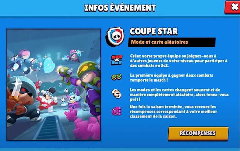 Coupe Star infos événenement
