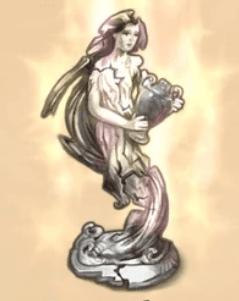 Statue de Gaïa détruite