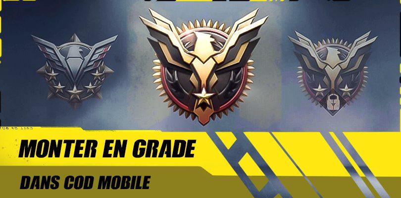 Monter en grade Call of Duty mobile
