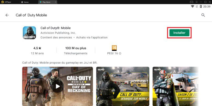 Installer Call of Duty Mobile sur PC