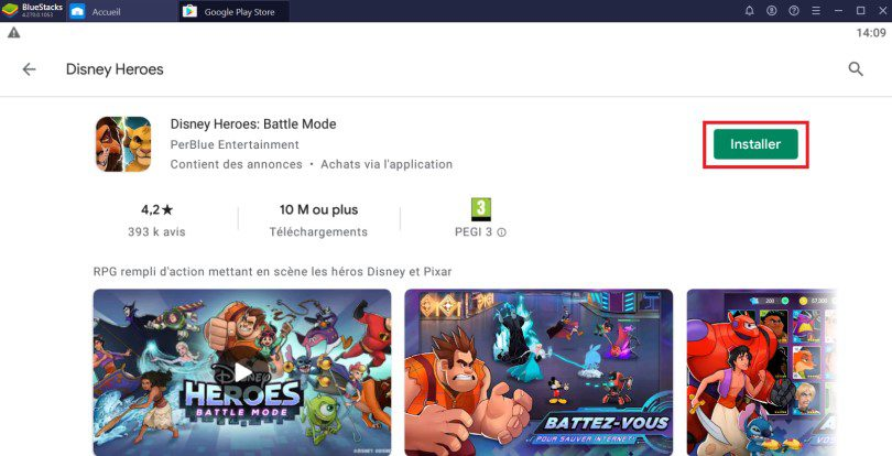 Installer Disney Heroes sur PC