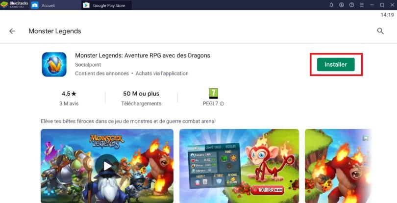 Installer Monster Legends sur PC