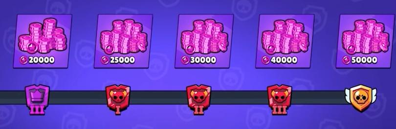 Paliers de récompenses pour la Coupe Star