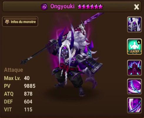 Summoners War Ongyouki statistiques