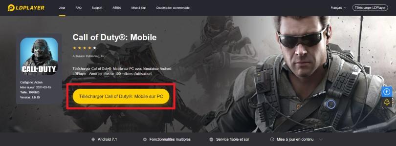 Télécharger émulateur Android pour jouer à COD Mobile