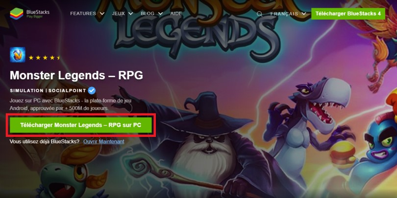 Télécharger un émulateur Android pour jouer à Monster Legends sur PC