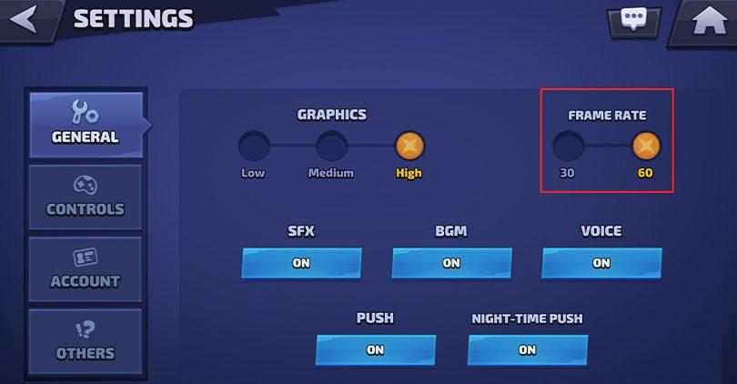 60 FPS guide Smash Legends setting