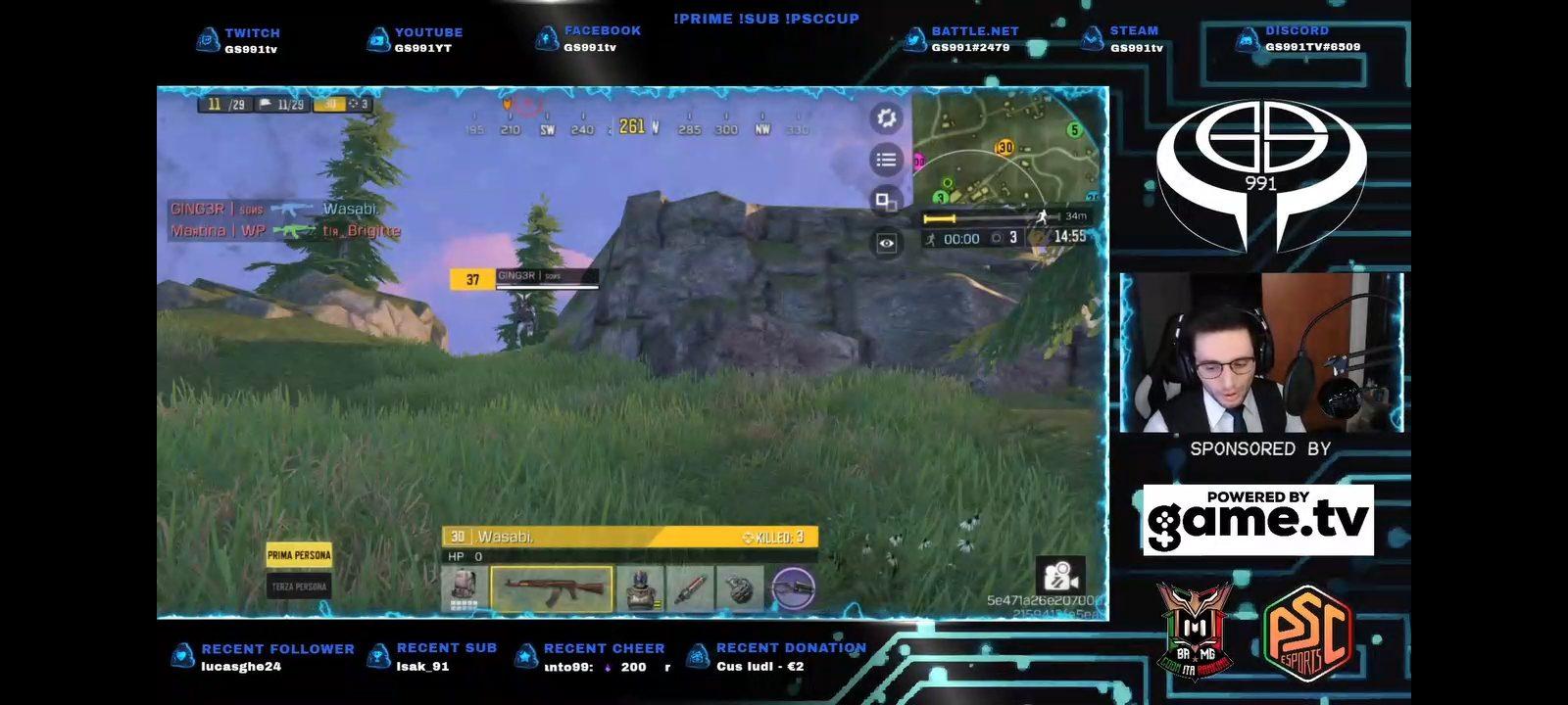 Stream Twitch par GS991tv sur un tournoi Call of Duty Mobile avec Game.tv