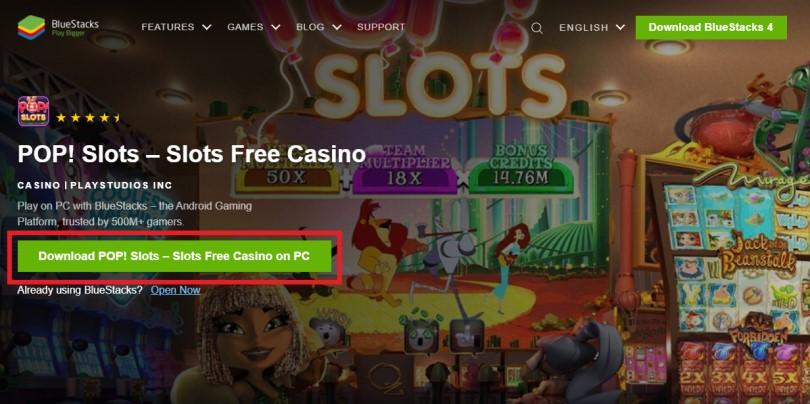 Télécharger POP! Slots avec un émulateur Android pour jouer sur PC