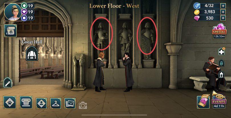 Etage inférieur - Ouest - énergie Harry Potter: Hogwarts Mystery