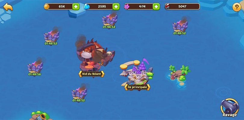 exploration Idle Heroes île Célestes