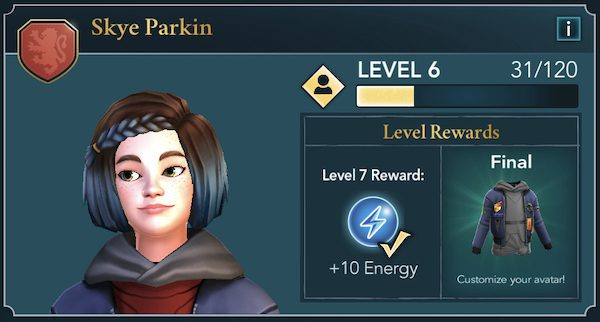 Increased friendship level for energy recovery in Harry Potter: Hogwarts Mystery