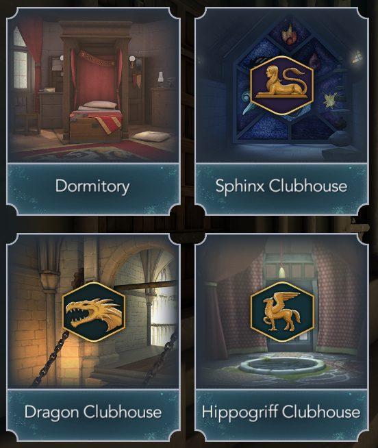 Club House of Hogwarts