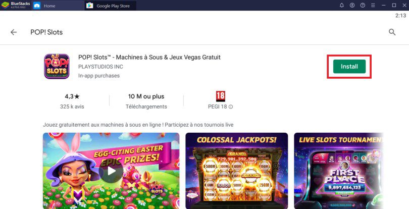 Install POP! Slots to play on PC